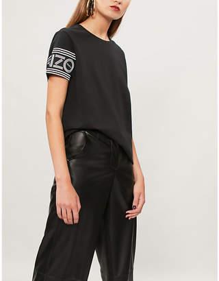 Kenzo Logo-sleeve cotton-jersey T-shirt