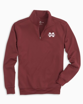 Southern Tide Gameday Performance 1/4 Zip Pullover - Mississippi State University