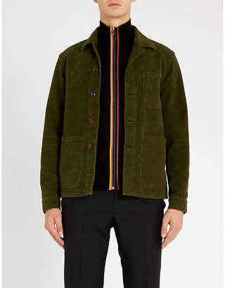Paul Smith Funnel-neck striped-trim wool jumper