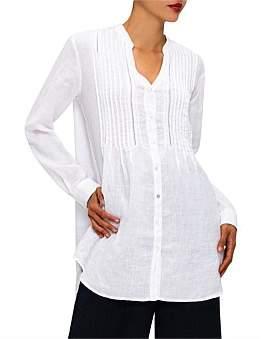 120% Lino 120 Lino Button Down L/S Long Shirt