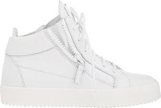 Giuseppe Zanotti Women's Double-Zip Sneakers-WHITE $650 thestylecure.com