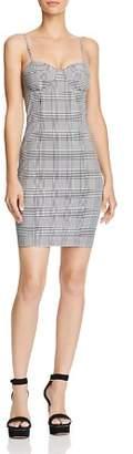 Olivaceous Plaid Bustier Mini Dress - 100% Exclusive