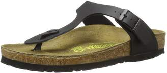 Birkenstock Women's Gizeh Cork Footbed Thong Sandal Blu Multi 38 M EU