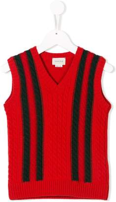 Gucci Kids cable knit gilet