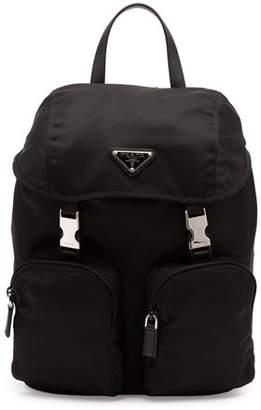 Prada Vela Large Zip-Front Backpack, Black (Nero) $1,030 thestylecure.com