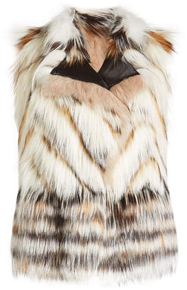 Roberto Cavalli Vest with Mink, Fox and Raccoon Fur