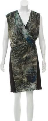 Helmut Lang Printed Silk-Blend Dress