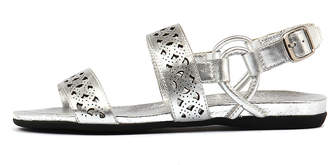 Django & Juliette Besta Silver Sandals Womens Shoes Casual Sandals-flat Sandals