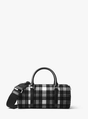Michael Kors Eva Tartan and Zebra Barrel Bag