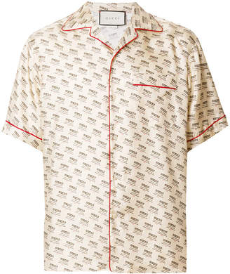 Gucci invite stamp bowling shirt