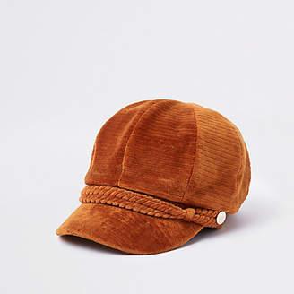 River Island Womens Rust cord backer boy hat