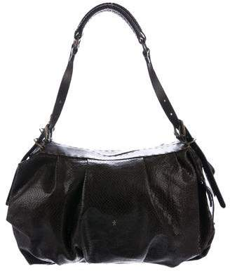 Henry Beguelin Embossed Leather Shoulder Bag