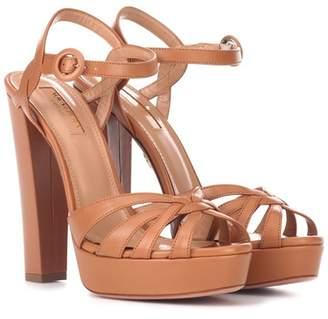 Aquazzura Love Affair 130 leather sandals