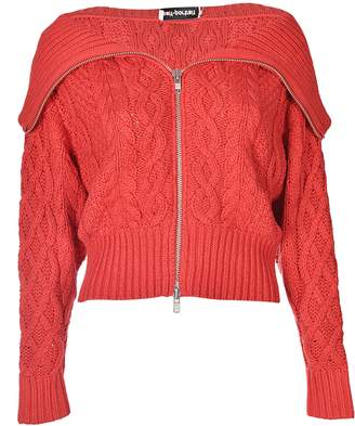 Self-Portrait Cropped Cable Knit Cardigan