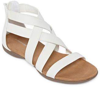 ST. JOHN'S BAY Womens Tora Criss Cross Strap Gladiator Sandals