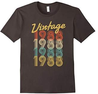 Vintage 1988 T-Shirt Retro Colors 30th Birthday Gift Shirt