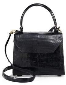 Nancy Gonzalez Mini Lily Crocodile Top Handle Bag