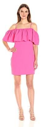 Trina Turk Women's Aloha Classic Crepe Off Shoulder Dress