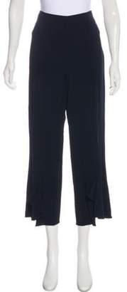 Cushnie High-Rise Wide-Leg Pants w/ Tags Navy High-Rise Wide-Leg Pants w/ Tags