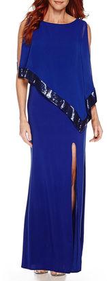 R & M Richards R&M Richards Sequin-Trim Formal Cape Gown $100 thestylecure.com