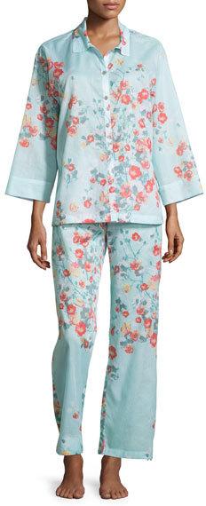 Natori Fiore Printed Cotton Pajama Set