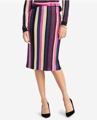 Rachel Roy Metallic Stripe Sweater Skirt