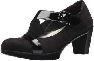 Naot Footwear Women's Brava Pump, Velvet Nubuck/Black Luster Leather