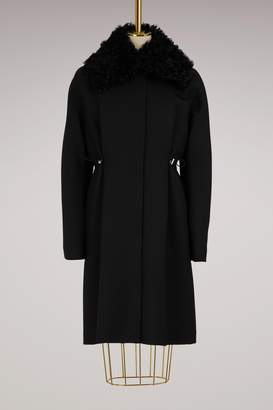 Moncler Gamme Rouge Stuart wool and shearling parka