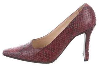 Chanel Snakeskin Pointed-Toe Pumps