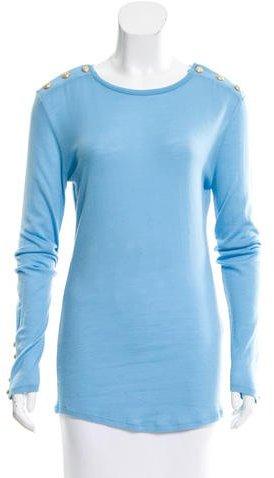 BalmainBalmain Wool & Cashmere-Blend Top w/ Tags