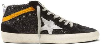 Golden Goose Deluxe Brand - Midstar Glitter And Suede Trainers - Womens - Black