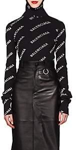 Balenciaga Women's Rib-Knit Hooded Top-Black