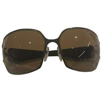 Chrome Hearts Brown Metal Sunglasses