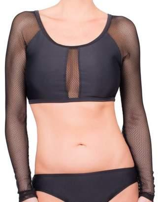 Mac & Jac Women's Mesh Cropped Bikini Swimsuit Top