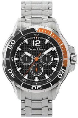 Nautica (ノーティカ) - ノーティカ多機能ブラックダイヤルステンレススチールメンズ腕時計n22617g