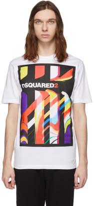 DSQUARED2 White Logo Print T-Shirt