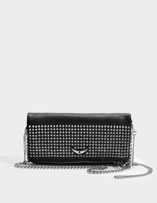 Zadig & Voltaire Rock Spike Bag in Black Cow Leather