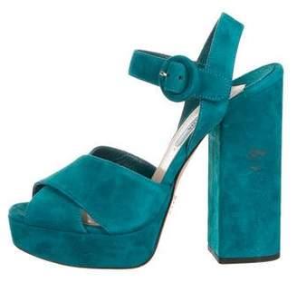 Prada Peep Toe Women s Sandals - ShopStyle 39df26b021