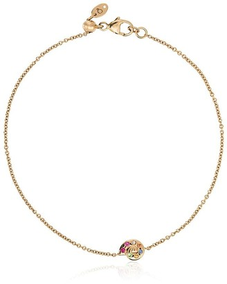 Loquet 14k yellow gold shell charm bracelet