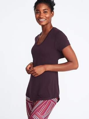 Old Navy Cutout-Back Performance Tee for Women