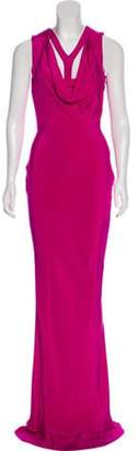 Cushnie Silk Cutout Dress w/ Tags Fuchsia Silk Cutout Dress w/ Tags