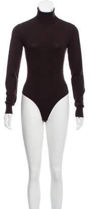 Alaia Wool Turtleneck Bodysuit