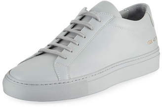 Common Projects Men's Achilles Leather Low-Top, Gray