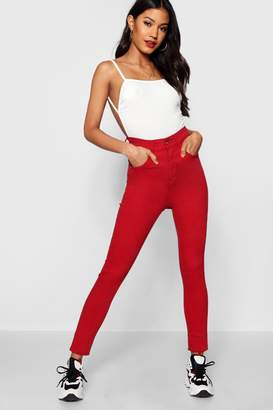 boohoo India High Waisted Skinny Jeans
