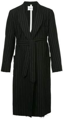 Takahiromiyashita The Soloist stripe print belted coat