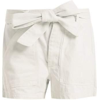 Merida high-waist denim shorts