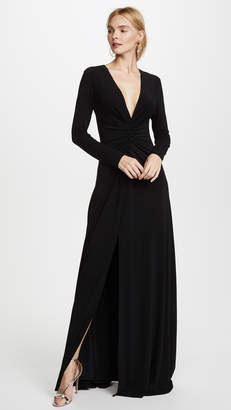 Halston Ruched Gown
