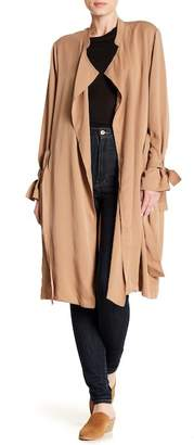 Splendid Drape Collar Trench Coat