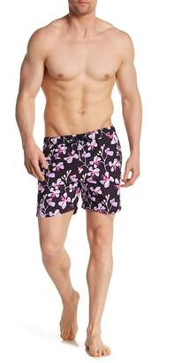 Franks Abstract Floral Mid Length Swim Trunks