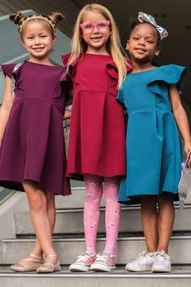 Kids Dream Princess Line Ruffle Dress Eggplant